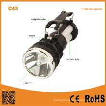 C43 bateria de chumbo-ácido portátil ao ar livre carregamento da lâmpada de acampamento solar