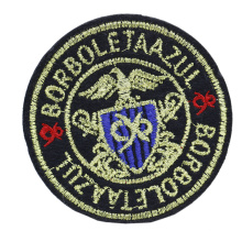 Wholesale Cheap Custom Logo Clothing Iron On 3D Embroidery Badge Embroidered Patches For Garment