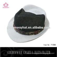 new design cheap lady fedora paper hat