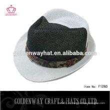 Новый дизайн дешевый леди fedora бумажная шляпа