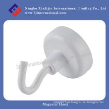 Gancho magnético / ganchos de acero con revestimiento blanco
