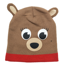 2019 new fashion acrylic lovely custom print logo knitted hat for kids