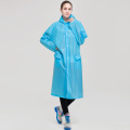 High Visibility safety 100% eva raincoat breathable rain coat