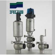 Vanne de renvoi intelligente à base d'eau inox sanitaire en acier inoxydable