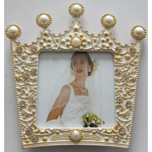 Couronne forme blanche petite Photo Frame
