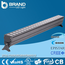 RGB LED pared arandela luz impermeable 24V LED barras de luz 72W