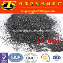 Carbón activado del coco de 0.5-2.4mm para la purificación del agua potable