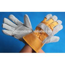 Gant de travail en cuir fendu à la main de 10,5 pouces en peau de palme pleine-classe AB