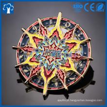 emblema de pino de lapela de esmalte redonda de corrente elétrica personalizada