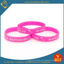 Großhandel Werbe gedruckt Gummi Silikon Armband (LN-034)