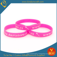 Wholesale Promotional Printed Rubber Silicone Wristband (LN-034)