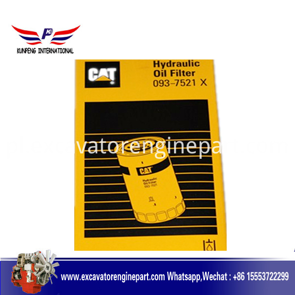 Cat excavator hydrulic oil filter 0937521