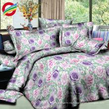 Juegos de cama impresos 3d 100% del lecho de las sábanas del algodón para la tela