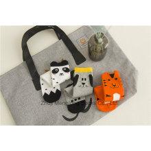 Katze und Hunde Karikatur-Entwürfe Mädchen-Baumwollstrumpf