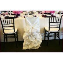 charmante couverture de chaise satin de volant pour mariage/banquet