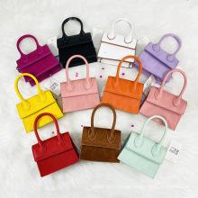 Fashion Candy Color Kids Purses 2021 Single Shoulder Lock Handbag PU Leather Crossbody Cute Mini Kid Purses and Handbags Girls