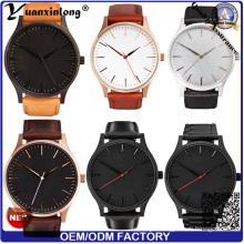 Yxl-158 Factory Directly Wrist Watch Genuine Leather Hand Men′s Watch Luxury Businessman Vogue Stainless Steel Band Watch