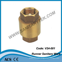 Brass Check Valve with Plastic Insert (V24-001)