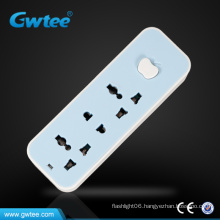 AC current multiple universal plug socket individual switch power strip(GT-V01)