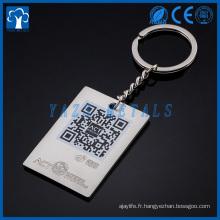 Fabricant de porte-clés Chaîne principale en métal personnalisé pour promotion