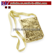 Toddler Girl Holiday Accessories Gold Glitter Satchel Purse (G1022)