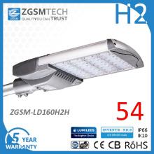 Cobra cabeça de fundição de alumínio Mudantes 160W fotocélula LED luz de estrada