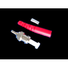 Conector de fibra óptica - ST / PC Sm - Red Boot -3.0mm