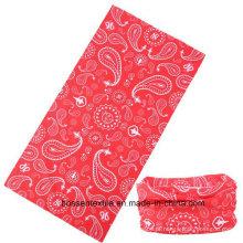 Lenço para bandana de poliéster estilo sem costura para exteriores enfeites para a cabeça e lenço envoltório