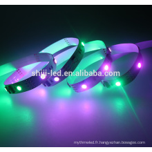 Numérique 12Vdc 12mm largeur numérique LED flexible bandes flexibles étanche led bande 5050 adressable rgb led bande
