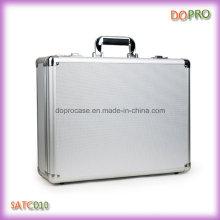 Poignée en ABS argenté Porte-documents en aluminium personnalisé avec verrouillage combiné (SATC010)