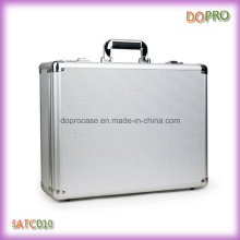 Silver ABS Handle Custom Aluminum Briefcase with Combination Lock (SATC010)
