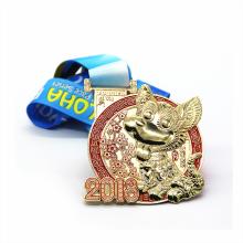 Medalla de perro de metal personalizada 3D con logo