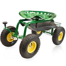 Garden Work Seat/Rolling Garden Seat Cart/Removable Seat