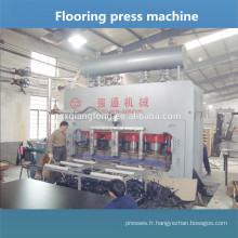 Machine à plancher sur plancher / Presse à chaud pour la fabrication de sol stratifié