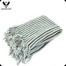 2016 Moda 100% Acrílico Woven cobertor com Self-Fringes