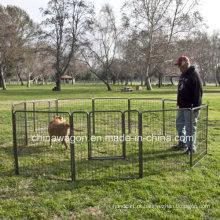Casa do cão do canil do animal de estimação da gaiola do cão 8 lateral