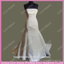 RP0032 Duches cetim brilhantes diamantes contas cristais decote mermaid casamento vestidos 2015 vestido de casamento 2014 com trem longo