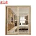 Porte de salle de bains de modèle de maison de porte de maison pour le cadre en aluminium d'appartement