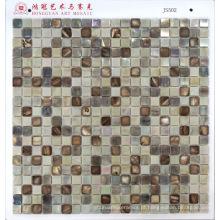 Mosaico de vidro com mosaico de concha