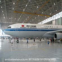 Prefab gran espacio de acero de espacio marco techo de aeronaves Hangar