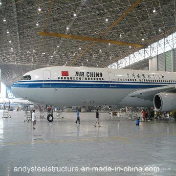 Prefab große Span Stahl Raumrahmen Dach Aircraft Hangar