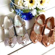 Baby Mädchen Partei Schuh Kinder Shinning Schuhe für Hochzeit Zirkon Diamant Shose Gold Silber Farbe