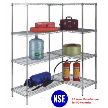 DIY Chrome Steel Heavy Duty Showroom Display Shelf, NSF Approval (ADD9045180A4C)