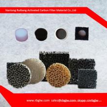 fabricación de espuma de filtro de aire auto Carchoal activada