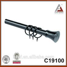 C19100 black nickel curtain finial