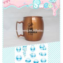 vasos dulces de plástico de alta calidad de impresión de la insignia de encargo