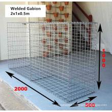 China Manufacturer 2X1X0.5m Welded Gabion Box (WGB)