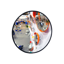 50CM Black Safety Mirror Blind Spot Acrylic Wide Angle Custom Mirror for Parking, Convex Mirror/
