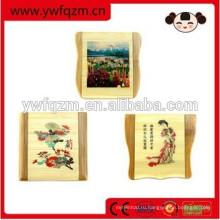 деревянные мультфильм косметический складной бамбука волос и бороды вшей гребень для макияжа набор
