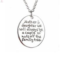 Оптовая День Матери серебряный позолоченный леди ювелирные изделия ожерелье